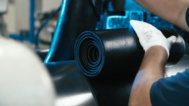 обработка сырой резиновой смеси